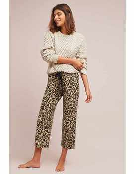 Leopard Brushed Fleece Sweatpants by Lna
