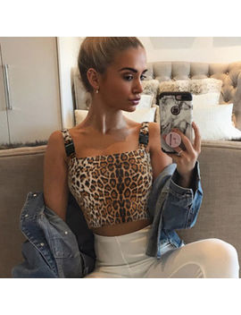 Women Sleeveless Leopard Tube Tops Bra Blouse Strapless Bandeau Crop Top Shirt by Unbranded