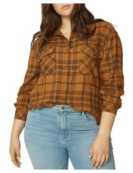 Plaid Boyfriend Shirt by Sanctuary Curve