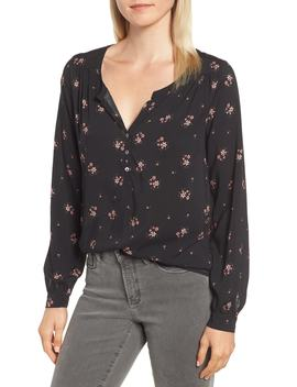Floral Challis Blouse by Velvet By Graham & Spencer