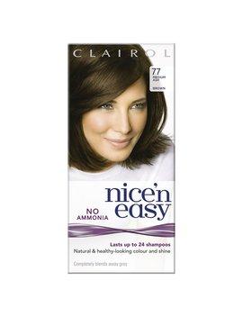 Clairol Nice'n Easy Semi Permanent Medium         Ash Brown 77 Clairol Nice'n Easy Semi Permanent Medium         Ash Brown 77 by Wilko