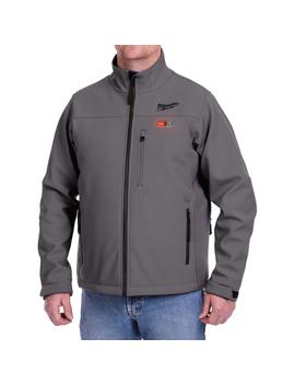 Men's Small M12 12 Volt Lithium Ion Cordless Gray Heated Jacket (Jacket Only) by Milwaukee
