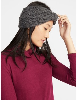 Textured Basket Weave Earwarmer For Women by Old Navy