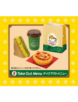 Re Ment Miniature Gudetama Cafe Restaurant Rare Now Rement Full Set Of 8 by Re Ment