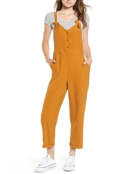 Button Front Overalls by