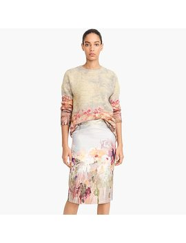 Collection Watercolor Pencil Skirt by J.Crew