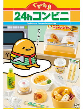 Re Ment Miniature Gudetama 24 Hours Convenience Store Rememt Full Set Of 8 by Re Ment