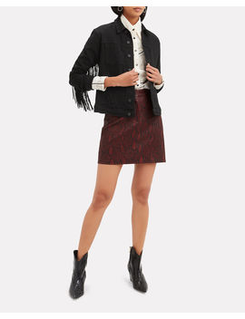 Troy Snake Print Leather Skirt by A.L.C.