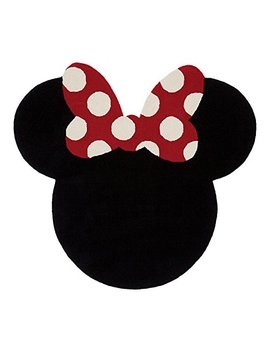 Ethan Allen | Disney I See Minnie Mouse Rug, 5' X 5', Mickey's Ears Black by Ethan Allen