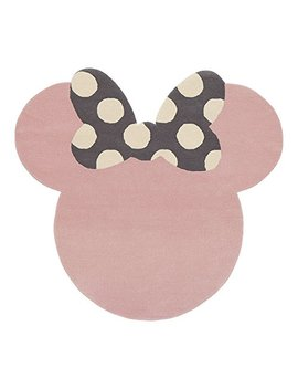Ethan Allen | Disney I See Minnie Mouse Rug, 5' X 5', Petal Pink by Ethan Allen