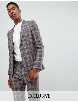 Noak Skinny Suit Jacket In Check by Noak