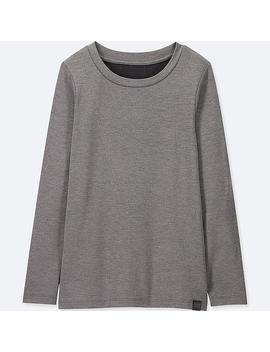 Kids Heattech Extra Warm Crewneck T Shirt by Uniqlo