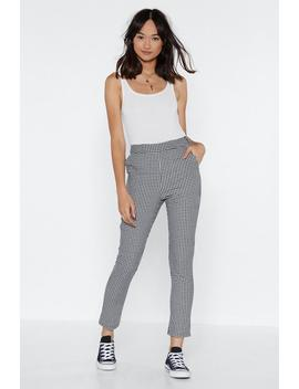 Make It Fair Gingham Trousers by Nasty Gal