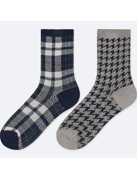 Girls Heattech Socks (Set Of 2) by Uniqlo