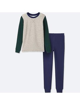 Boys Ultra Stretch Long Sleeve Sweat Set by Uniqlo