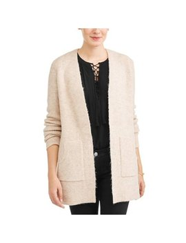 Women's 2 Pocket Mossy Waffle Cardigan by Time And Tru