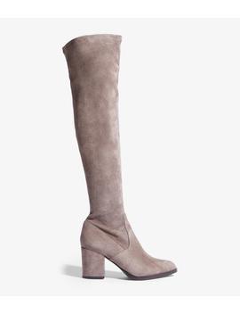 Suede Over The Knee Boot by Fd300 Fd300 Fd252 Fd121 Fd027 Fd028 Fd045 Zd517 Gd985