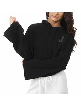 Juicy Couture Womens French Terry Logo Bell Sleeve Hoodie Sweatshirt by Juicy+Couture