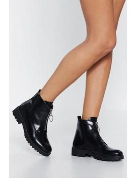 Came Through Zippin' Patent Boot by Nasty Gal