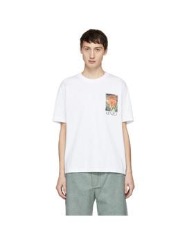 White Jungle Tiger Memento T Shirt by Kenzo