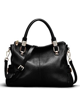Kattee Womens Genuine Leather Handbag Urban Style Satchel Tote Bag by Kattee
