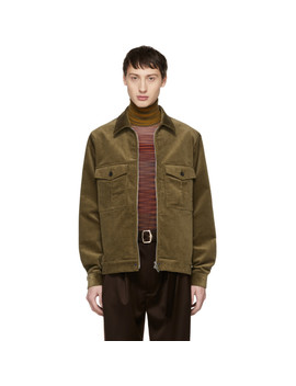 Tan Corduroy Jacket by Ps By Paul Smith