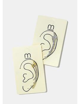 Curved Rhinestone Bar Ear Crawler by Miss A