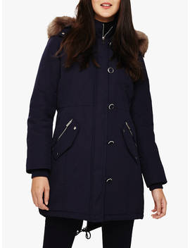 Phase Eight Pina Parka Coat, Navy by Phase Eight