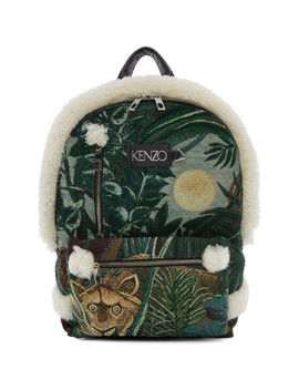 Green Jacquard Memento Backpack by Kenzo