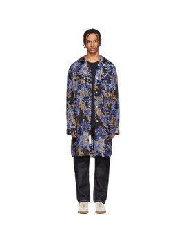 Multicolor Camo Oversized Hooded Coat by Marni Dance Bunny