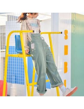 Moriville   Corduroy Applique Jumper Pants by Moriville