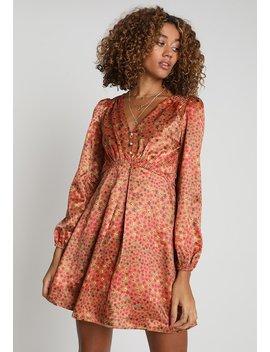 Button Vneck Ditsy Dress   Sommerkjoler by Honey Punch