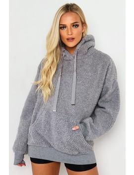 Grey Teddy Hooded Sweater by Lasula
