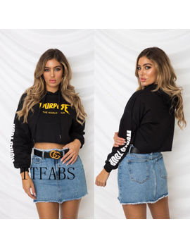 Women's Fall Casual Hoodie Long Sleeve Sweatshirt Sweater Crop Top Pullover Tops by Itfabs