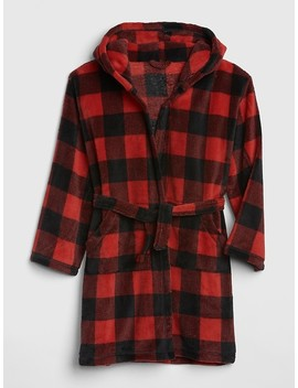 Buffalo Plaid Hoodie Robe by Gap