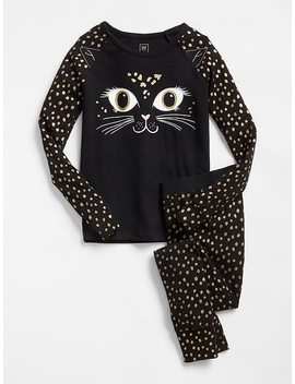 Glitter Cat Pj Set by Gap