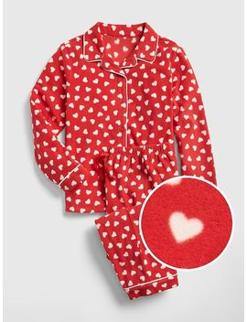 Heart Pj Set In Fleece by Gap