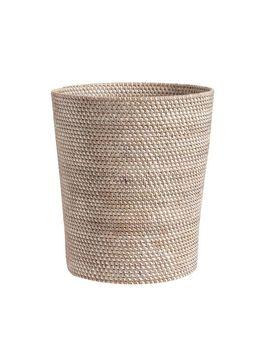 Tava Wastebasket   Whitewash by Pottery Barn