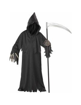 Grim Reaper Deluxe With Vinyl Hands Boys' Child Halloween Costume by Generic