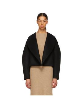 Black Wool Bellac Jacket by TotÊme