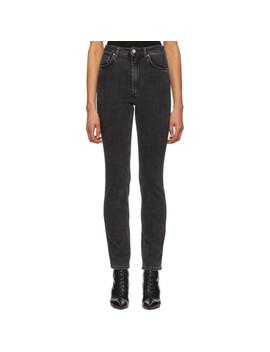 Black Standard Jeans by TotÊme