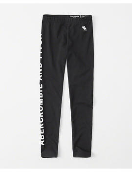 Knit Logo Leggings by Abercrombie & Fitch