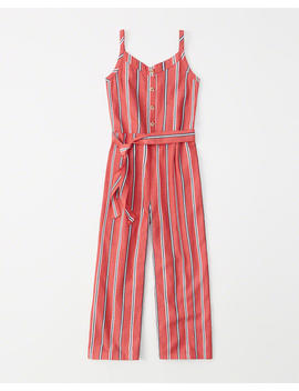 Button Up Tie Front Jumpsuit by Abercrombie & Fitch
