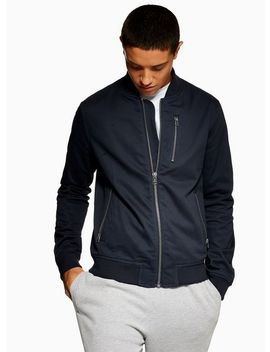 Navy Bomber Jacket by Topman