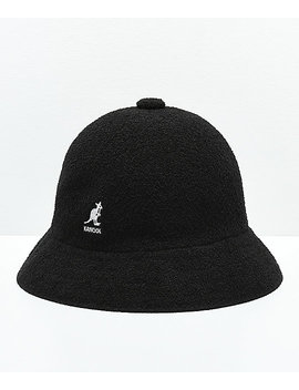 Kangol Bermuda Casual Black & White Bucket Hat by Kangol