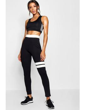 Fit Contrast Running Legging by Boohoo