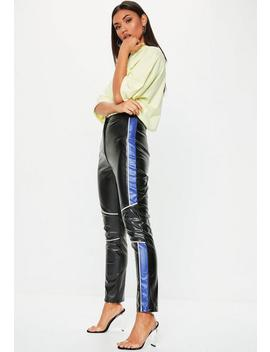 Black Motocross Faux Leather Pants by Missguided