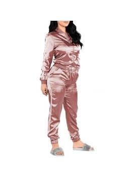 Women Ladies Tracksuit Set 2pcs Jacket+Pants Suit Gym Casual Sportswear D7 I5 by Unbranded/Generic