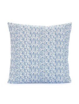 Wedgewood Blue And White Pillow Cover 18x18 20x20 22x22 24x24 Euro Sham Or Lumbar Pillow Case, Leaf Block Print Pattern, Lacefield Palma by Etsy