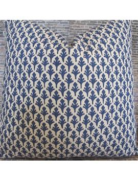 Designer Pillow Cover   Ldpb Marine Blue by Etsy